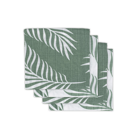 Immagine di Jollein® Set di 4 mussole Nature Ash Green 70x70