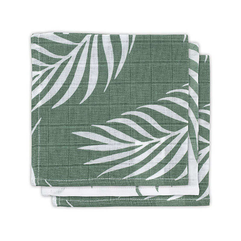 Immagine di Jollein® Set di 3 mussole Nature Ash Green 31x31