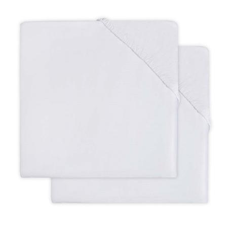 Immagine di Jollein® Lenzuolo di cotone White 2 pezzi 120x60