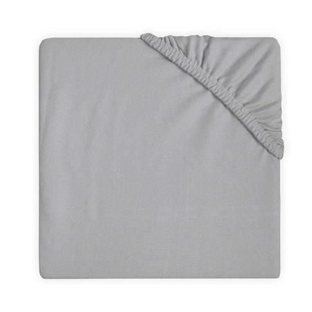 Jollein® Lenzuolo di cotone Soft Grey 140x70/150x75