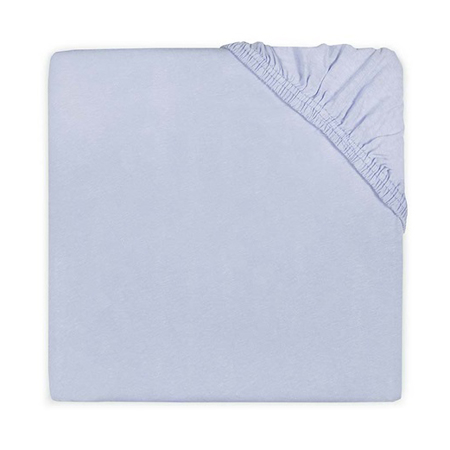 Jollein® Lenzuolo di cotone Baby Blue 140x70/150x75