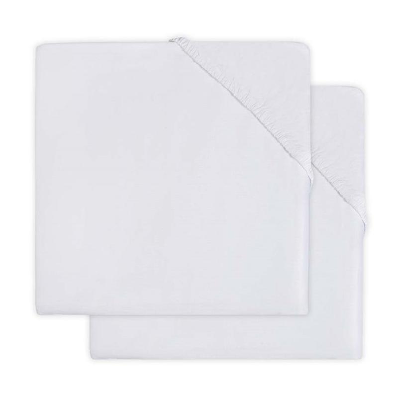 Immagine di Jollein® Lenzuolo di cotone White 2 pezzi 140x70/150x75
