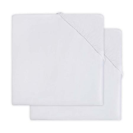 Jollein® Lenzuolo di cotone White 2 pezzi 140x70/150x75