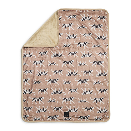 Elodie Details® Coperta di velluto White Tiger Warm Sand 75x100