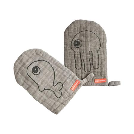 Immagine di Done by Deer® Un set di due guanti per la cura Grey