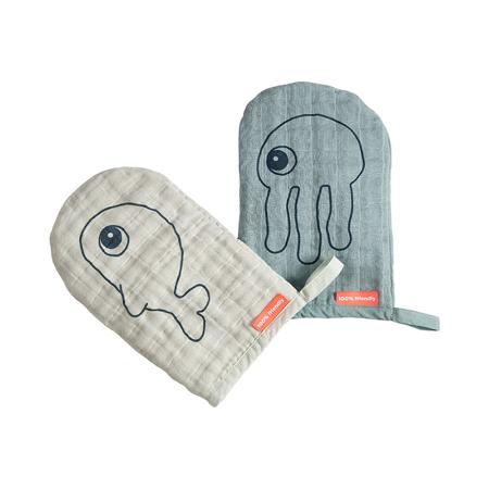 Immagine di Done by Deer® Un set di due guanti per la cura Blue