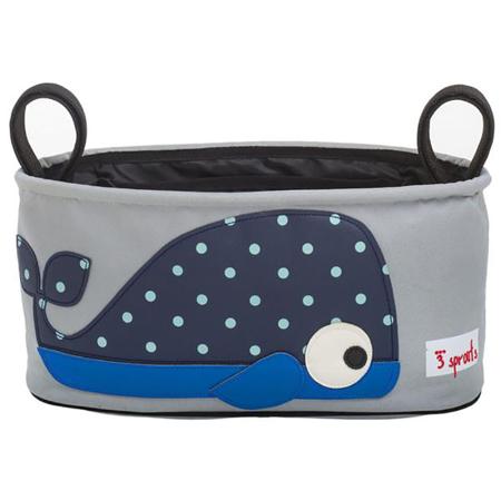 3Sprouts® Cestino porta oggetti per passeggino Balena