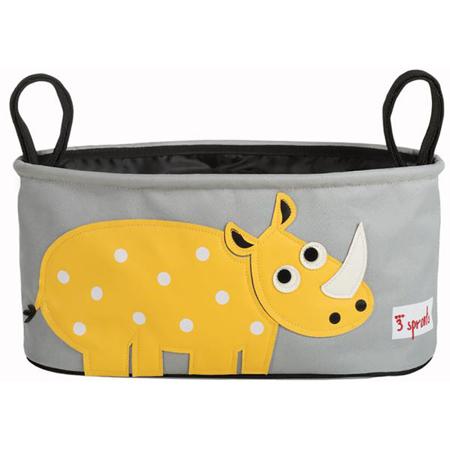 3Sprouts® Cestino porta oggetti per passeggino Rinoceronte