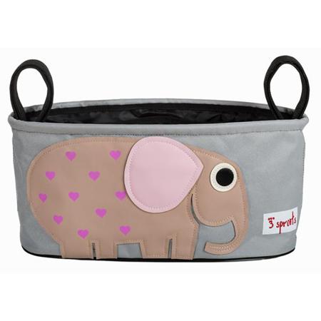 3Sprouts® Cestino porta oggetti per passeggino Elefante