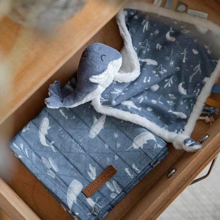 Little Dutch® Doudou balena Ocean Blue