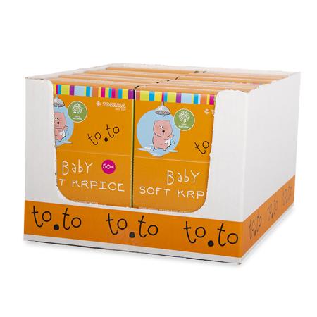Immagine di Tosama® Salviette naturali per la cura ed il bagnetto to.to Soft  50 PEZZI
