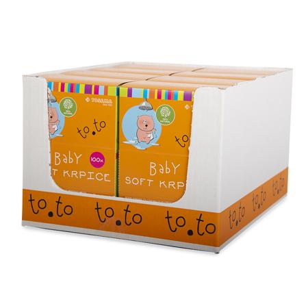 Tosama® Salviette naturali per la cura ed il bagnetto to.to Soft  100 pezzi
