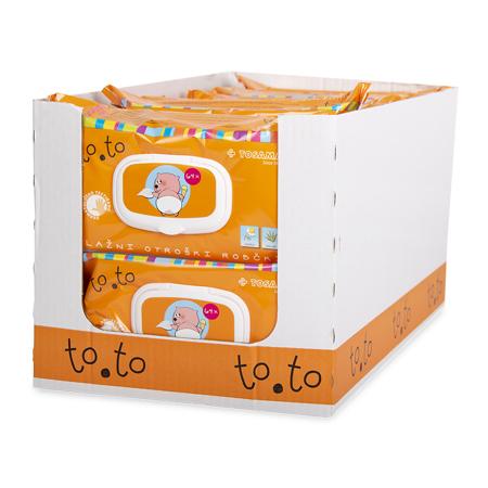 Immagine di Tosama®  Salviette umidificate con chiusura to.to Sensitive 64 pezzi