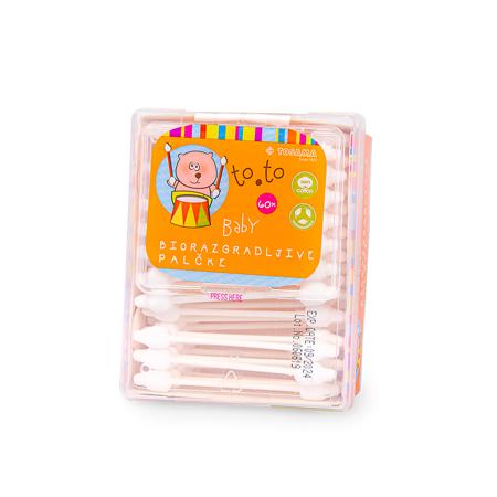 Immagine di Tosama® Cotton fioc biodegradabili per bambini to.to 60 pezzi