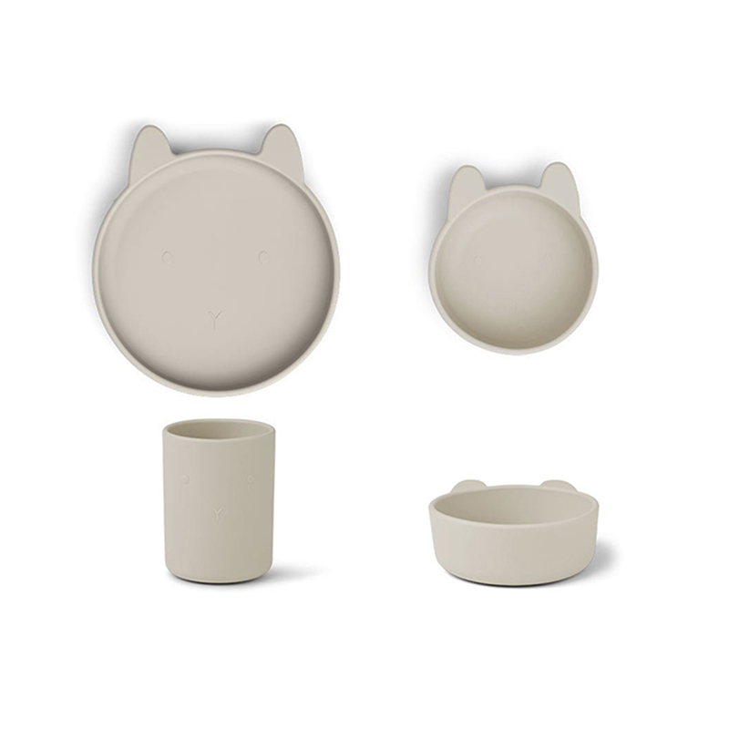 Immagine di Liewood® Set pappa in silicone  Cyrus Junior Rabbit Sandy