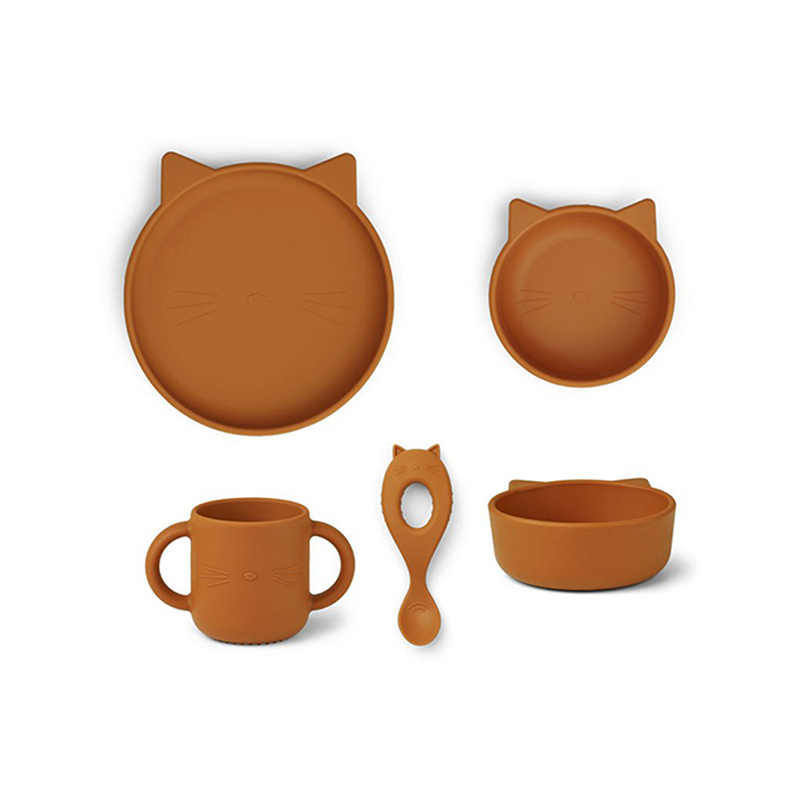 Immagine di Liewood® Set pappa in silicone  Vivi Cat Mustard