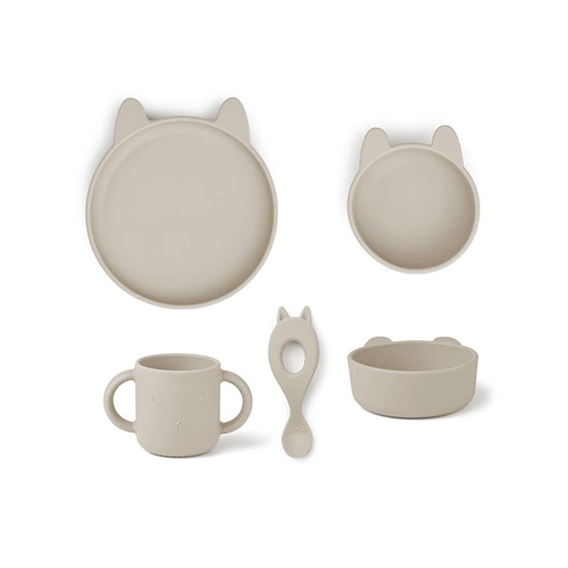 Immagine di Liewood® Set pappa in silicone  Vivi Rabbit Sandy