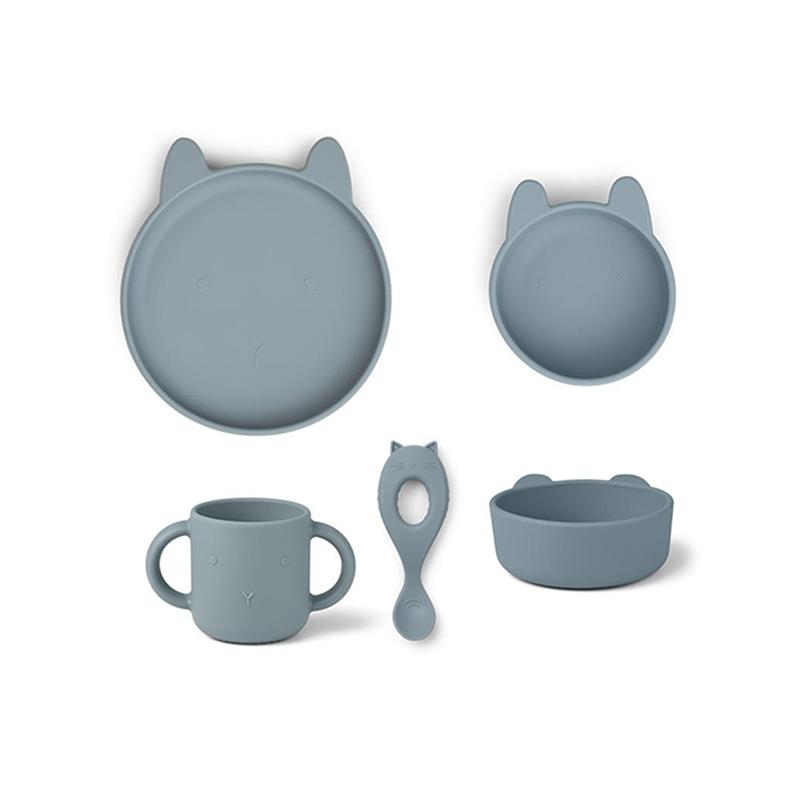 Immagine di Liewood® Set pappa in silicone Vivi Rabbit Sea Blue