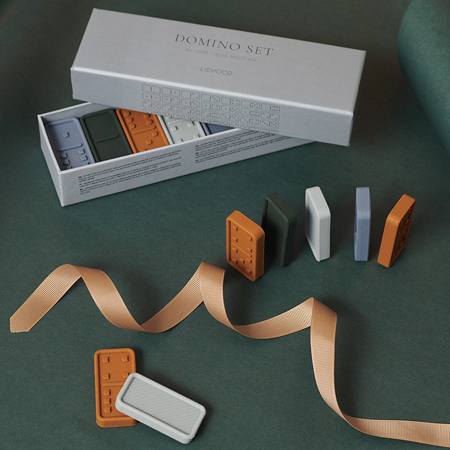 Immagine di Liewood® Domino in silicone Dodo Blue Multi Mix