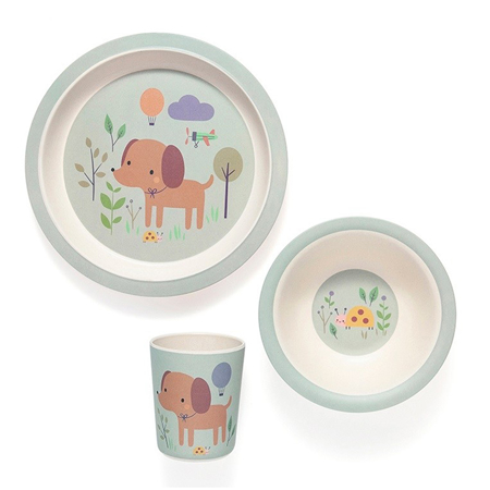 Petit Monkey® Set pappa di bambù Dog