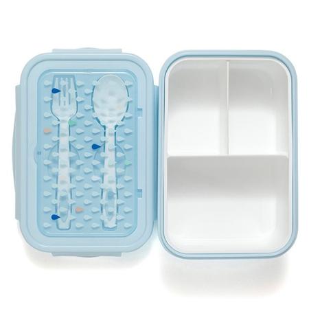 Immagine di Petit Monkey® Contenitore snack con le posate Blue