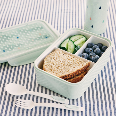 Immagine di Petit Monkey® Contenitore snack con le posate Green