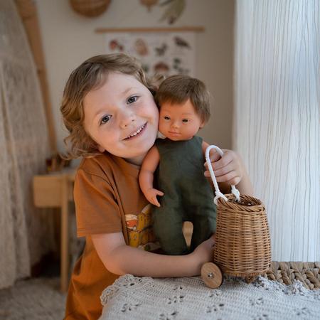 Immagine di Miniland® Neonato Brown Hair Boy 38cm