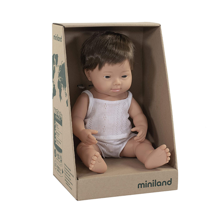 Miniland® Neonato Brown Hair Boy 38cm