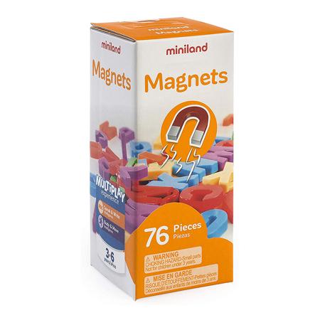 Miniland® Lettere magnetiche 76 pezzi