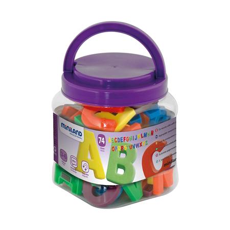 Miniland® Lettere magnetiche Jumbo 74 pezzi