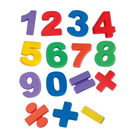 Immagine di Miniland® Numeri magnetici Jumbo 68 pezzi