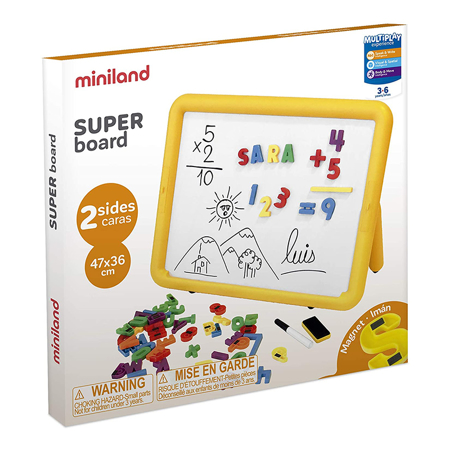 Immagine di Miniland® Lavagna magnetica a due lati 47x36