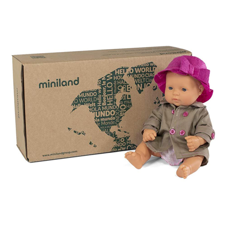 Miniland® Bambola Mild Weather Hat Set 32cm