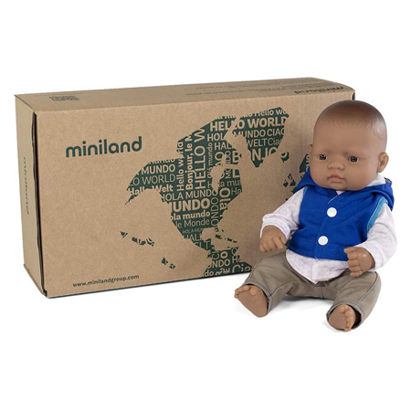 Miniland® Neonato Mild Weather Hat Set Navy 32cm