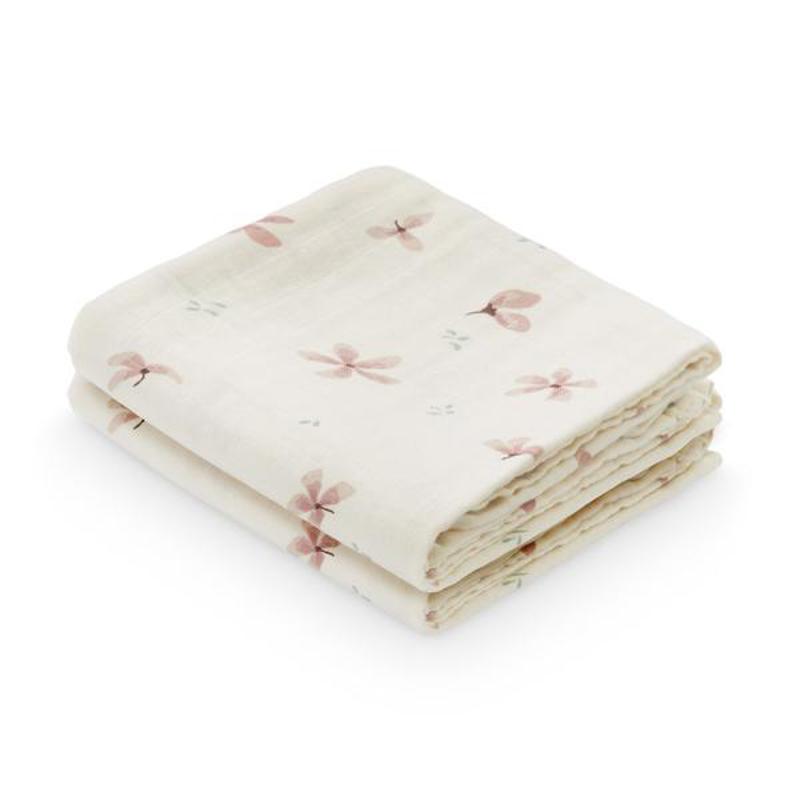 Immagine di CamCam® Set di pannolini tetra Windflower Creme 70x70