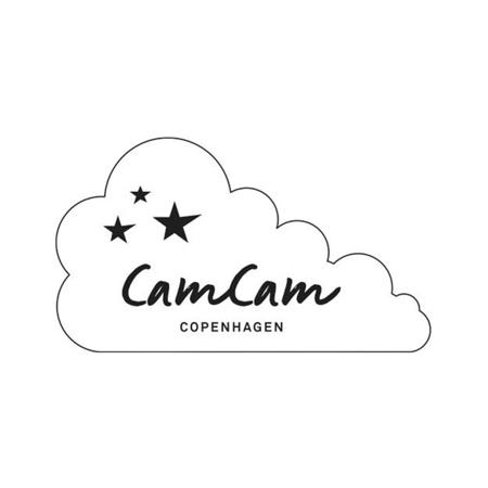Immagine di CamCam® Teli per fasciare Mix Fiori, Light Blue, Creme White 70x70 3 pezzi
