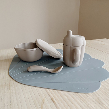 Konges Sløjd® Set pappa in silicone Warm Grey