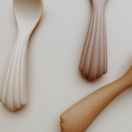Konges Sløjd® Set 3 cucchiai di silicone Shell