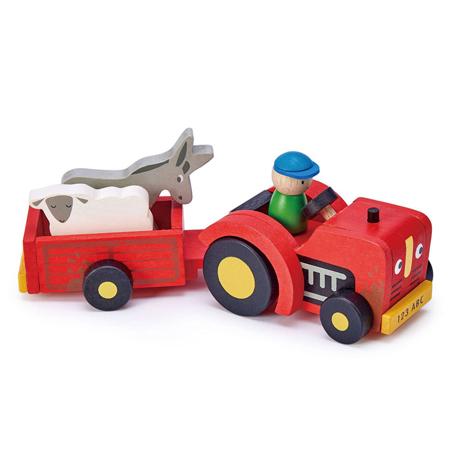 Immagine di Tender Leaf Toys® Trattore con rimorchio