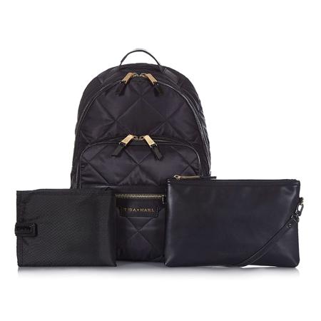 Tiba+Marl® Zaino fasciatoio Elwood Nylon Quilt Black