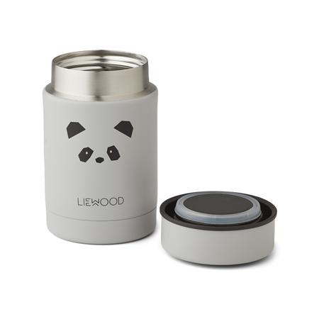 Liewood® Termo contenitore Nadja Panda Light Grey 250ml