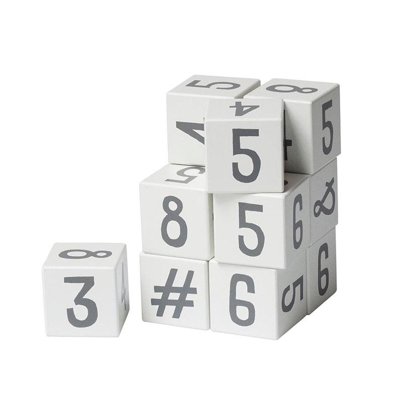 Immagine di Sebra® Cubi in legno con numeri White/Classic Grey