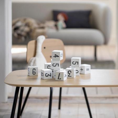 Sebra® Cubi in legno con numeri White/Classic Grey