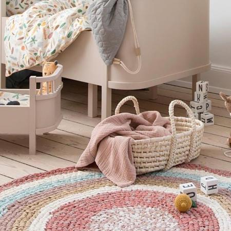 Immagine di Sebra® Moses cesta per le bambole Sunset Pink