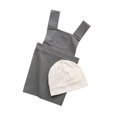 Immagine di Sebra® Grembiule e cappello per bambini Elephant Grey/Classic White