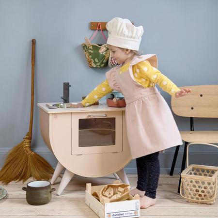 Sebra®  Grembiule e cappello per bambini Dusty Pink/Classic White