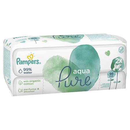 Immagine di Pampers® Salviettine Aqua Pure 2x48 pezzi