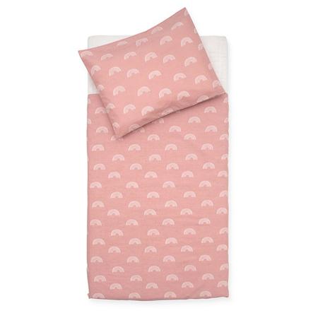 Jollein® Biancheria da letto per bambini Rainbow Blush Pink 140x100
