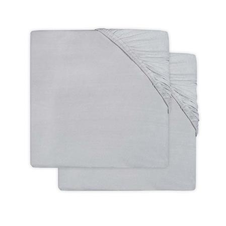 Immagine di Jollein® Lenzuolo di cotone Soft Grey 2 pezzi 120x60
