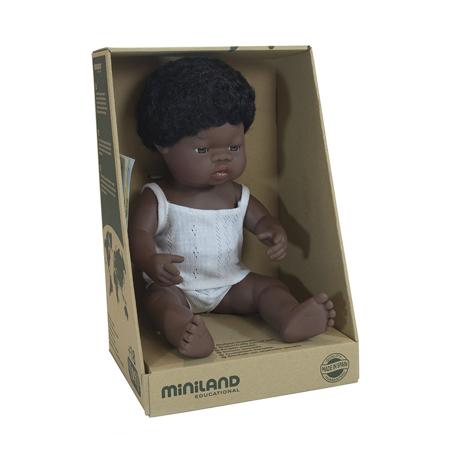 Miniland® Neonato African Boy 38cm